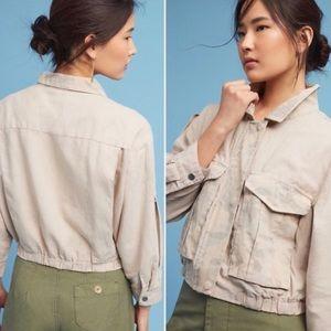 Anthropologie Hei Hei Ronan Linen Camo Jacket
